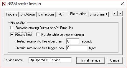 NSSM File Rotation